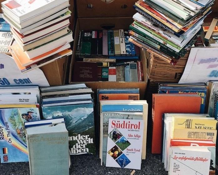 München und Literatur: Tipps für Münchner Literaturliebhaber - Bücherflohmarkt