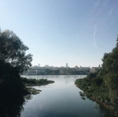 Warschau im Herbst: Blick von Praga