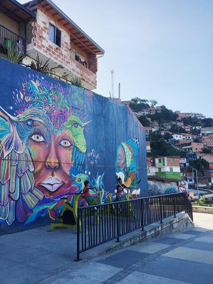 Medellín, Kolumbien: Street Art in der Comuna 13