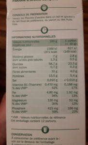 Lire les étiquettes alimentaire
