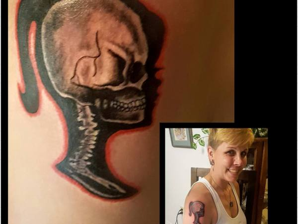 Barbie Skull Tattoo
