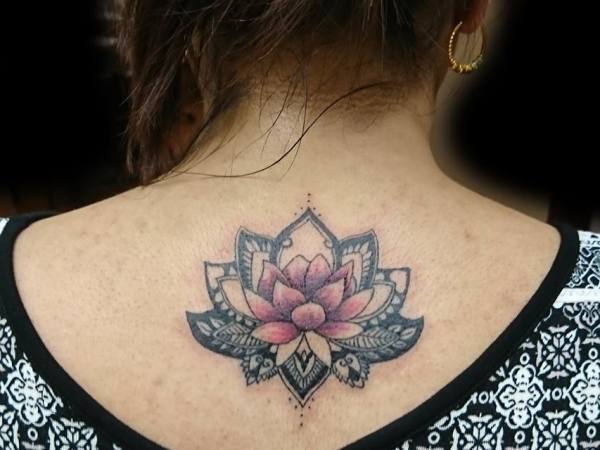 lotus flower mandala tattoo design