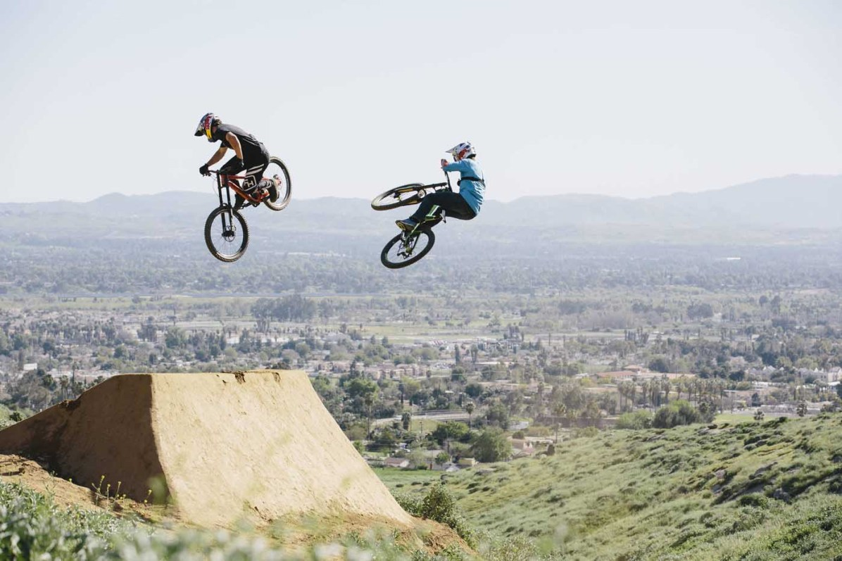 Carson Storch and Darren Berrecloth in action in Riverside, CA, USA on 10 March, 2017. // Scott Toepfer / Red Bull Content Pool