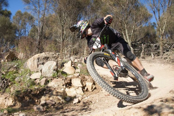 Dave Ludenia was on an awesome day before a big crash on stage 5. 6th place on the day