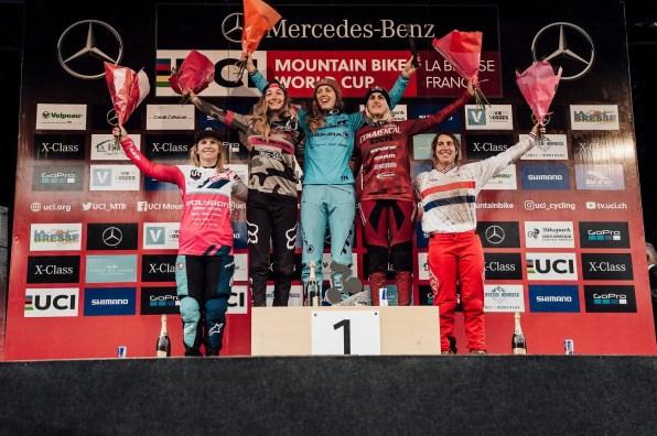 la-bresse-mtb-dh-world-cup-2018-elite-women-podium