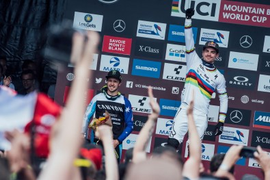 Loic Bruni seen at UCI DH World Cup in Les Gets, France on July 13th, 2019 // Bartek Wolinski/Red Bull Content Pool // AP-1ZXGHEZNW1W11 // Usage for editorial use only // Please go to www.redbullcontentpool.com for further information. //