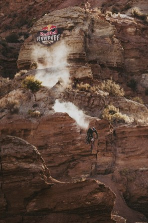 Brandon Semenuk competesRed Bull Rampage in Virgin, Utah, USA on 25 October, 2019. // Paris Gore / Red Bull Content Pool // AP-21Z41HW191W11 // Usage for editorial use only //