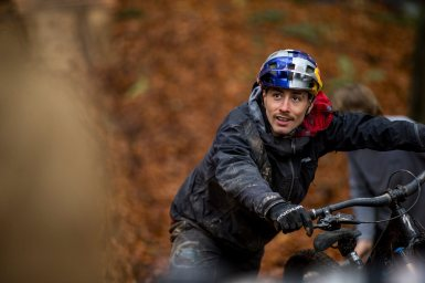"Kriss Kyle is seen on location for his debut MTB film ""Out Of Season"" in Meiford, Wales, United Kingdom on November 13, 2020. // Samantha Dugon / Red Bull Content Pool // SI202104020955 // Usage for editorial use only //"