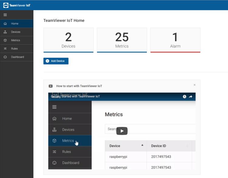Home TeamViewer IoT