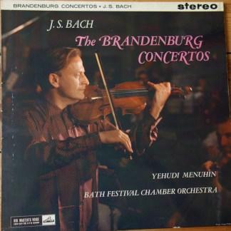 ASD 327/28 Bach Brandenburg Concertos / Yehudi Menuhin / BFCO W/G 2 LP set