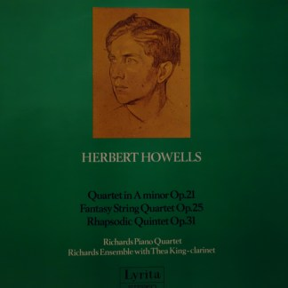 SRCS 68 Herbert Howells Quartet in A, Fantasy String Quartet, Rhapsodic Quartet / Richards Piano Quartet