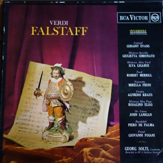 SER 5509/11 Verdi Falstaff, Geraint Evans, etc. / Solti 3 LP box set