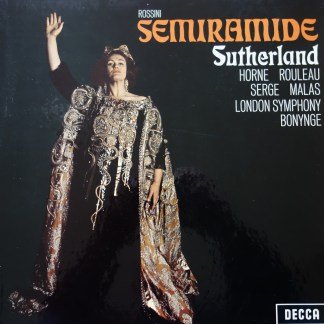 SET 317-9 Rossini Semiramide / Sutherland / Bonynge etc. W/B 3 LP box