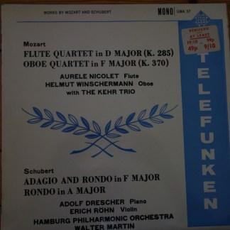 GMA 37 Mozart Flute Quartet, Oboe Quartet / Schubert etc. / Erich Rohn, Aurele Nicolet, etc.