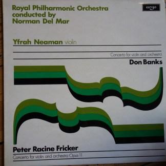 ZRG 715 Fricker / Banks Violin Concertos / Neaman