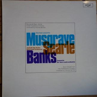ZRG 726 Musgrave Clarinet Concerto / Banks Horn Concerto