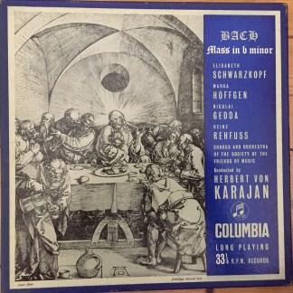 33CX 1121/3 Bach Mass in B Minor / Schwarzkopf