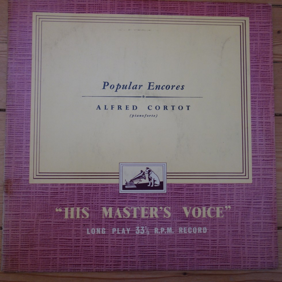 ALP 1197 Alfred Cortot Plays Popular Encores