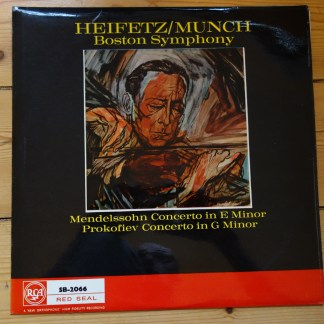 SB 2066 Mendelssohn / Prokofiev Violin Concertos / Heifetz / Munch