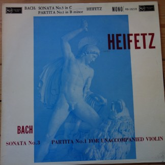 B-16218 Bach Sonata No.3 Partita No.1 For Unaccompanied Violin Heifetz