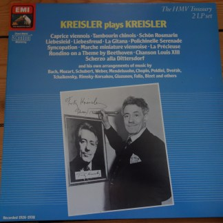 EM 29 0556 3 Kreisler plays Kreisler 2 LP set