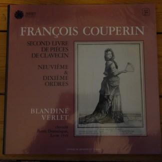 Astree AS 27 Couperin Pieces de Clavecin 9th & 10th Ordres / Blandine Verlet