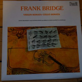 SHE 541 Frank Bridge Violin/Cello Sonata / Levon Chilingirian