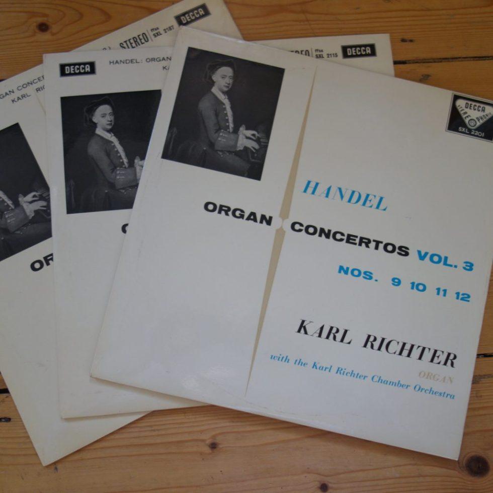 SXL 2115,2187,2201 Handel Organ Concertos Vols 1-3 / Richter W/B