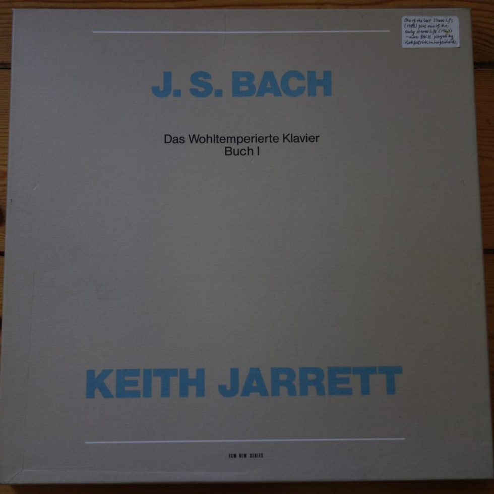 ECM 1262/63 Bach Well-Tempered Klavier / Keith Jarrett