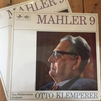 SAX 5281/2 Mahler Symphony No. 9 / Klemperer E/R 2 LP set