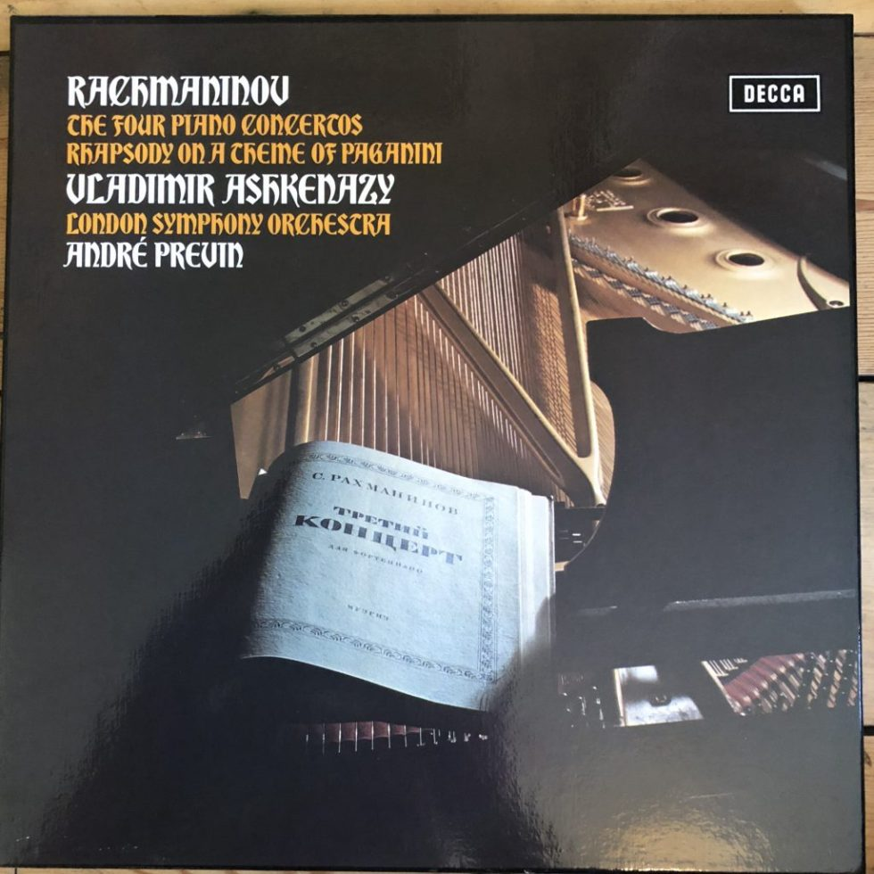 SXLF 6565-7 Rachmaninov The 4 Piano Concertos / Ashkenazy / Previn 3 LP box