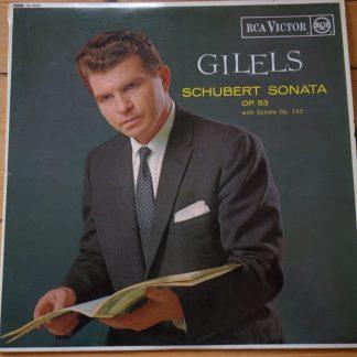 SB 6668 Schubert Sonata Op. 53 & Op. 143 / Emil Gilels