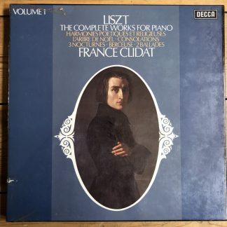 8BBR 132-5 Liszt Complete Piano Works Vol. 1 / Clidat 4 LP box
