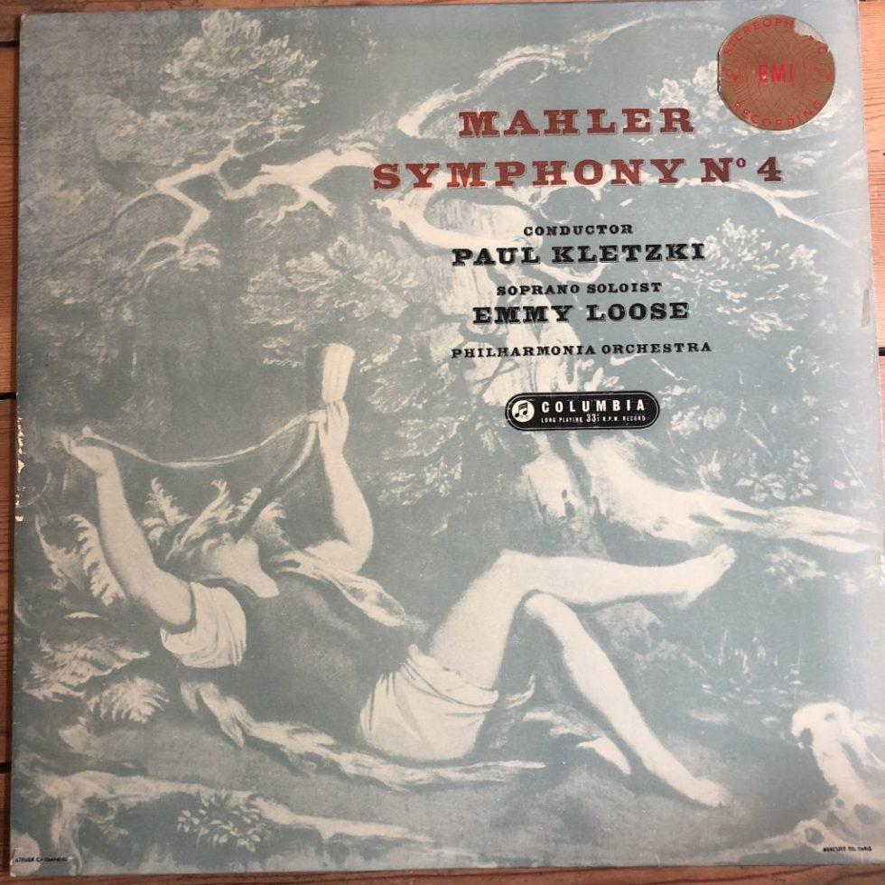 SAX 2345 Mahler Symphony No. 4 / Emmy Loose / Kletzki B/S