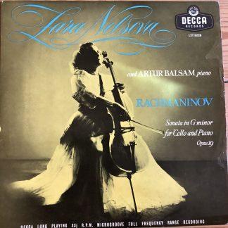LXT 5228 Rachmaninov Cello Sonata in G minor / Nelsova / Balsam O/S