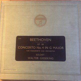 LX 8462/65 Beethoven Piano Concerto No. 4 / Gieseking