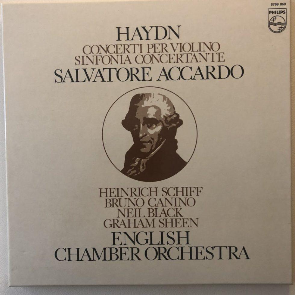 6769 059 Haydn Violin Concertos etc. / Accardo / ECO 2 LP box set