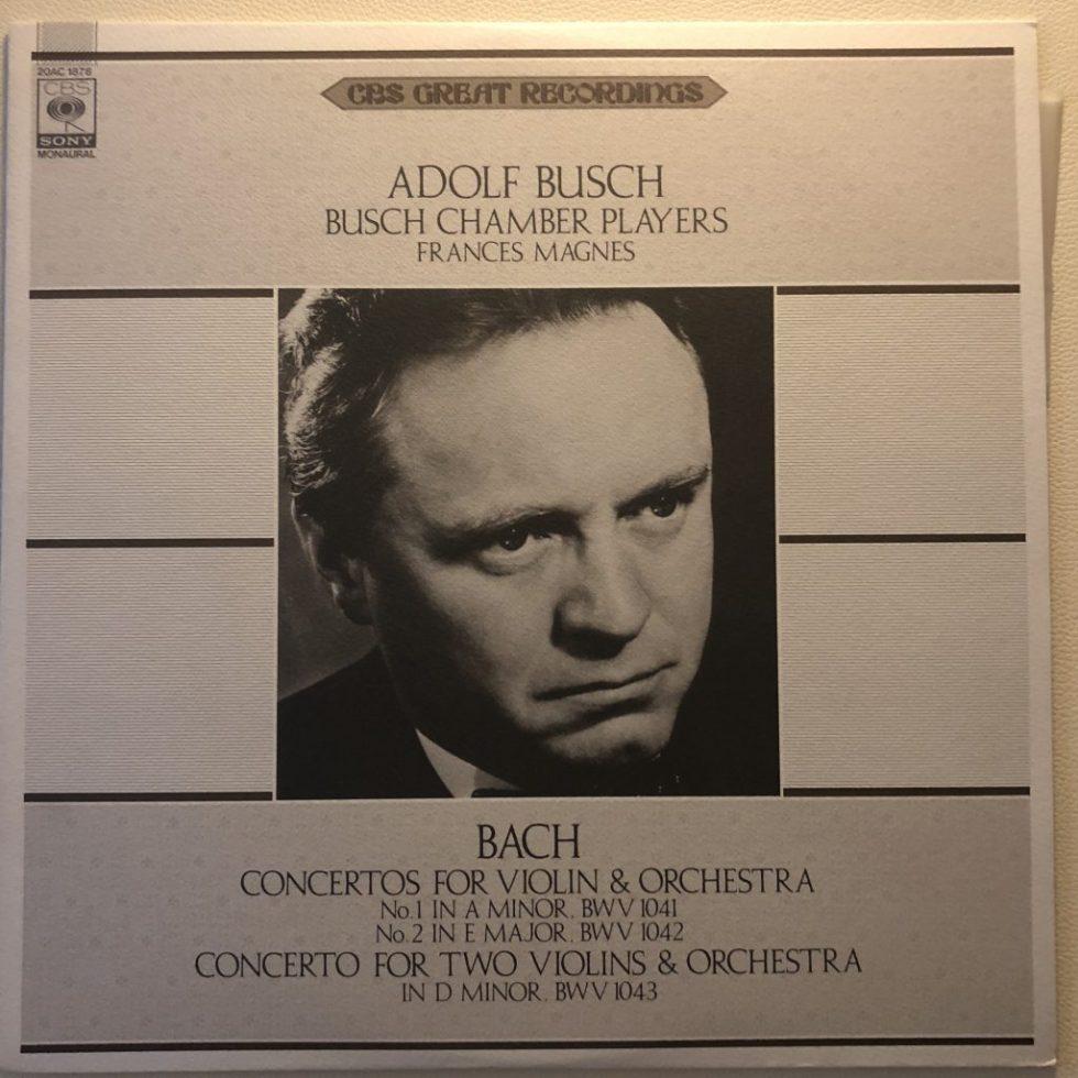 20AC 1878 Sonatas by Bach Violin Concertos / Double Concerto