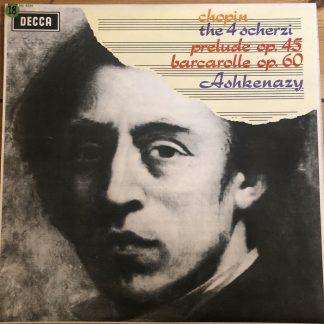 SXL 6334 Chopin The 4 Scherzi etc. / Ashkenazy W/B