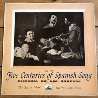 ALP 1393 Five Centuries Of Spanish Song 1300 -1800 Victoria De Los Angeles R/G