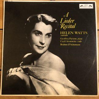 SOL 268 A Lieder Recital / Helen Watts