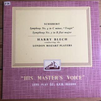 CLP 1010 Schubert Symphonies Nos. 4 'Tragic' & 5 / Blech / London Mozart P/G