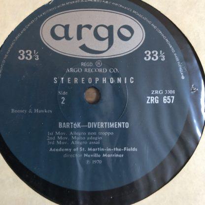 ZRG 657 Bartok Music for Strings,
