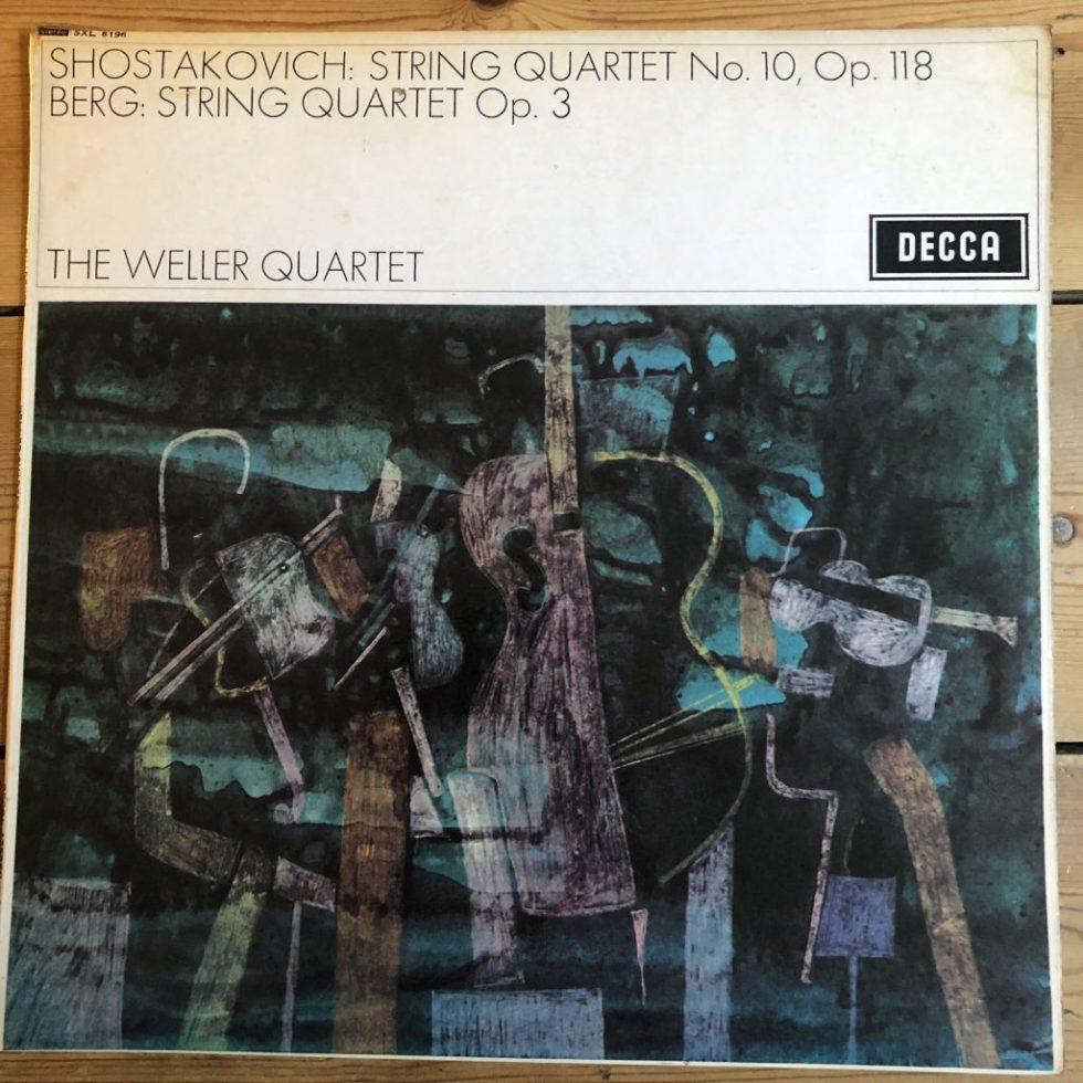 SXL 6196 Berg / Shostakovich String Quartets / The Weller Quartet W/B