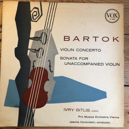 PL 9020 Bartok Violin Concerto / Violin Sonata / Ivry Gitlis