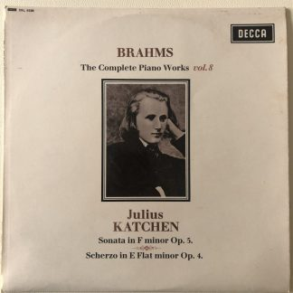 SXL 6228 Brahms Complete Piano Works