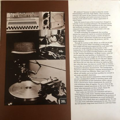 """Sessions"" JBL Loudspeakers 2-LP Gatefold"