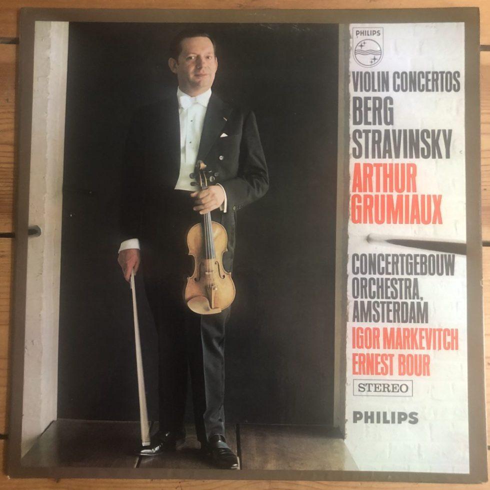 SAL 3650 Berg / Stravinsky Violin Concertos / Grumiaux / Markevitch / Bour P/S
