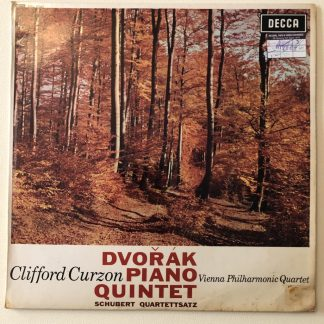 SXL 6043 Dvorak Piano Quintet etc. / Curzon / Vienna Philharmonic Quartet W/B