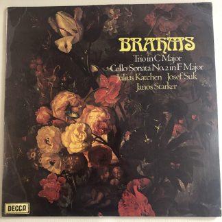 SXL 6589 Brahms Piano Trio in C major etc. / Katchen / Suk / Starker